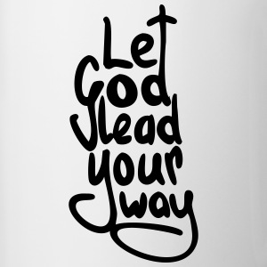 Let God Lead Your Way (no outline) - Contrast Coffee Mug