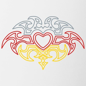 Heart Tribal Design - Contrast Coffee Mug