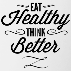 eat_healthy_Think_better - Contrast Coffee Mug