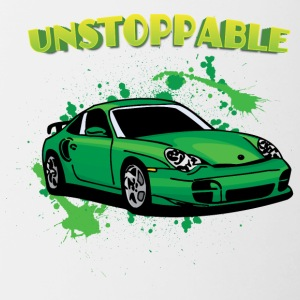 Unstoppable_Green_porsche_911 - Contrast Coffee Mug