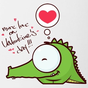 crocodile alligator animal more love on Valentines - Contrast Coffee Mug