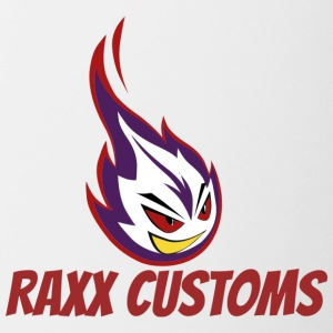 raxx customs logo - Contrast Coffee Mug