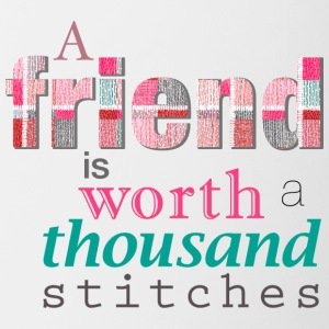 Friends Are Worth Stitches Set - Contrast Coffee Mug