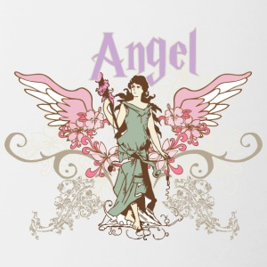 vintage angel - Contrast Coffee Mug