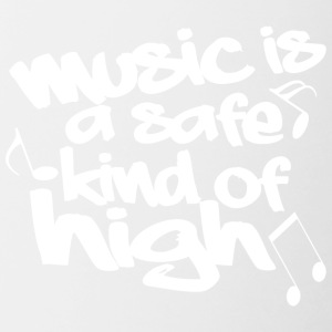Music is a safe kind of high - Contrast Coffee Mug