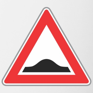Road_Sign_Up_triangle_red - Contrast Coffee Mug