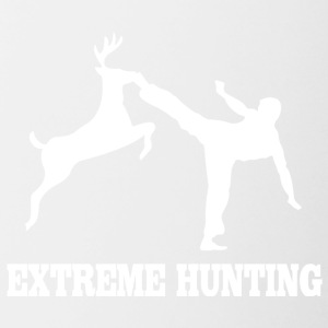 Extreme hunting deer karate kick - Contrast Coffee Mug