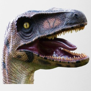 velociraptor head - Contrast Coffee Mug
