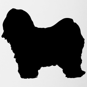 Vector dog Silhouette - Contrast Coffee Mug
