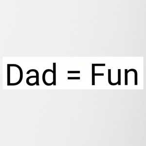 Dad = fun - Contrast Coffee Mug
