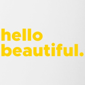 hellobeautiful - Contrast Coffee Mug