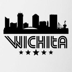 Retro Wichita Skyline - Contrast Coffee Mug