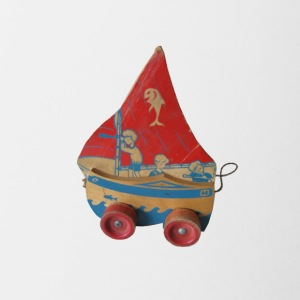 SAIL BOAT PULL TOY - Contrast Coffee Mug