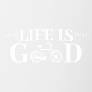Life Is Good Bicycle - Contrast Coffee Mug