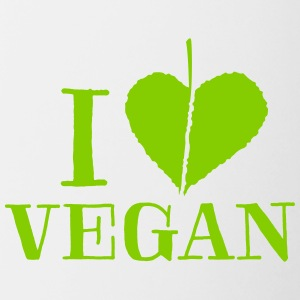I love vegan - T-Shirt - Contrast Coffee Mug