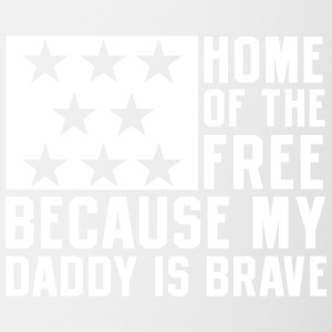 USA brave Daddy Proud Independence Day 4th of July - Contrast Coffee Mug