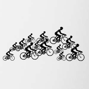 Belgian group of cyclists - Contrast Coffee Mug
