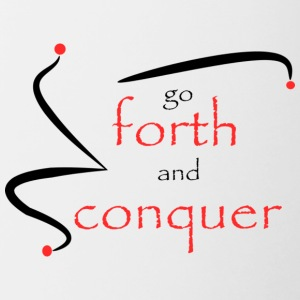 Forth and conquer - Contrast Coffee Mug