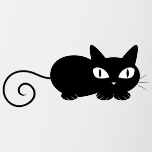 black_cat_laying - Contrast Coffee Mug