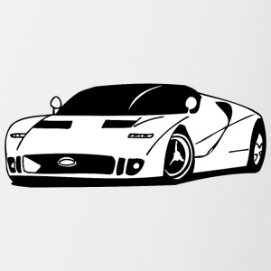 White_sport_car - Contrast Coffee Mug