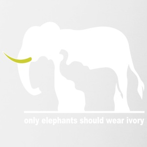 Only elephants should wear ivory - Contrast Coffee Mug