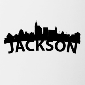 Arc Skyline Of Jackson MS - Contrast Coffee Mug