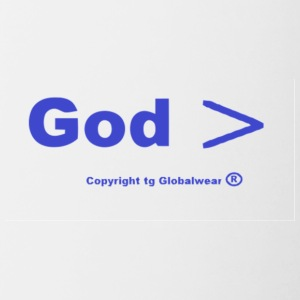 God id greater God is > - Contrast Coffee Mug