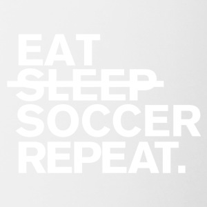 Eat. dont sleep. soccer. repeat. - Contrast Coffee Mug