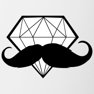 Diamond with Moustache - Hipster - Swag - Contrast Coffee Mug