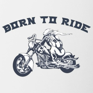 BURN_TO_RIDE_BIKER - Contrast Coffee Mug