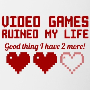 Video Games Ruined My Life vectorized - Contrast Coffee Mug