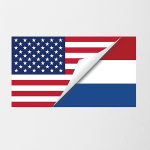 Half American Half Dutch Flag - Contrast Coffee Mug