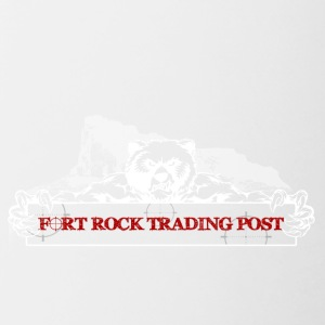 Fort Rock LOGO white red font - Contrast Coffee Mug