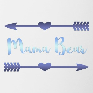 Mama Bear- Blue Gradient Design - Contrast Coffee Mug