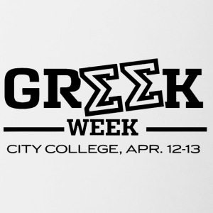 Greek Week City College - Contrast Coffee Mug