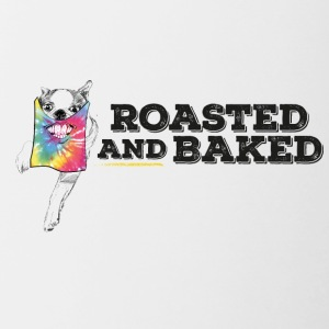 ROASTED AND BAKED TieDye doggy - Contrast Coffee Mug