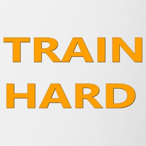 TRAIN HARD ORANGE - Contrast Coffee Mug