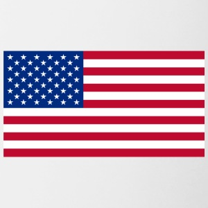 Large size USA Flag - Contrast Coffee Mug