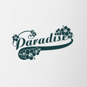 Paradise letter with FLOWERS - Contrast Coffee Mug