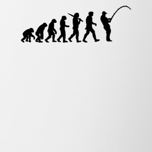 Evolution of a Fisherman - Contrast Coffee Mug