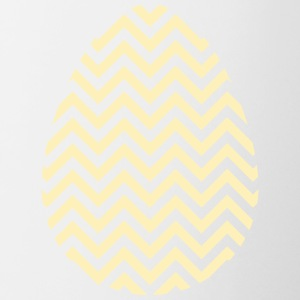 Gold Easter Egg Chevron - Contrast Coffee Mug