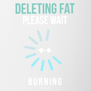 Gym Fitness Deleting Fat Shirt - Contrast Coffee Mug