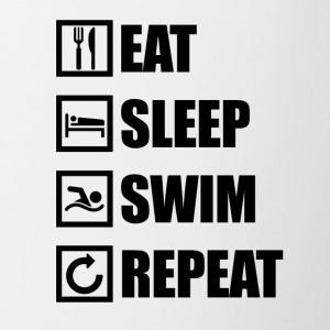 EAT SLEEP SWIM REPEAT - Contrast Coffee Mug