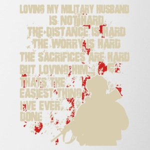 Love My Military Husband Shirt - Contrast Coffee Mug