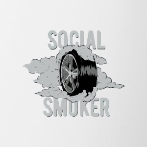 Social smoker wheel - Contrast Coffee Mug