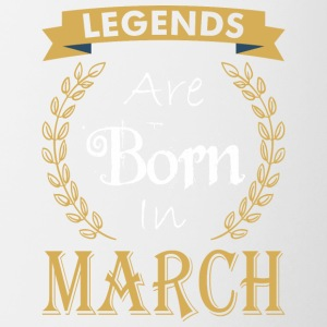 Legend Are Born In March - Contrast Coffee Mug