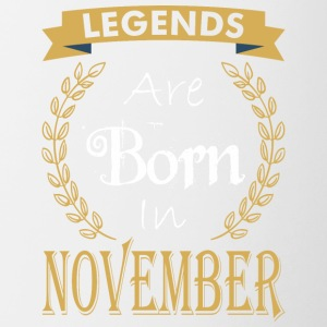 Legend Are Born In November - Contrast Coffee Mug