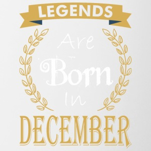 Legend Are Born In December - Contrast Coffee Mug