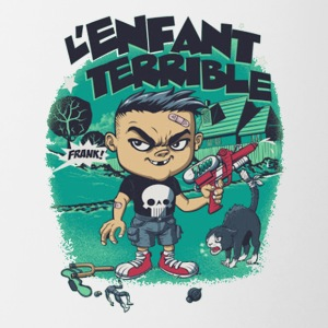 l enfant terrible - Contrast Coffee Mug