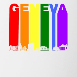 Geneva Switzerland Skyline Rainbow LGBT Gay Pride - Contrast Coffee Mug